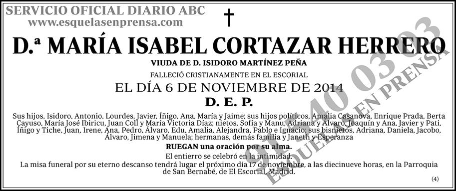 María Isabel Cortazar Herrero